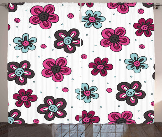 Florets Buds Kids Girls Curtain