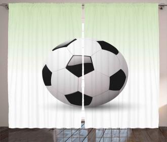 Football Soccer Ball Curtain