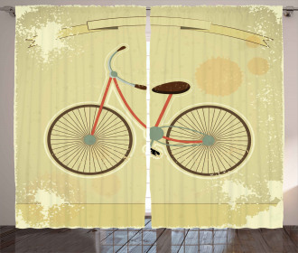 Postcard of Retro Bike Curtain