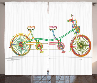 Tandem Bike Design Curtain