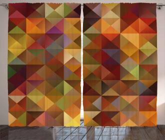 Grid Mosaic Geometric Curtain