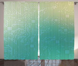 Tech Vector Pattern Curtain