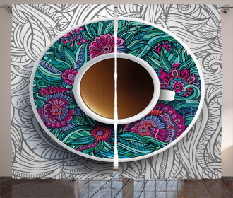 Coffee and Herbal Tea Curtain