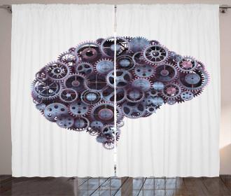 Mechanic Wheel Brain Curtain