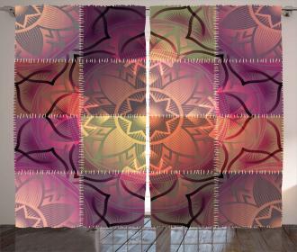 Modern Mandala Motif Curtain