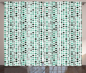 Geometrical Circles Dots Curtain