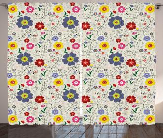 Flower Butterfly Pattern Curtain