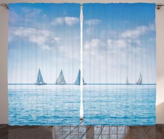 Sail Boats Regatta Race Curtain