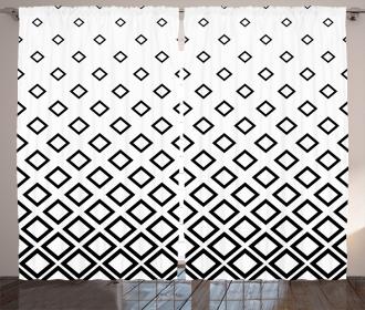 Square Pattern Art Curtain