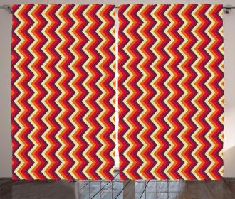 Zig Zag Chevron Stripes Curtain