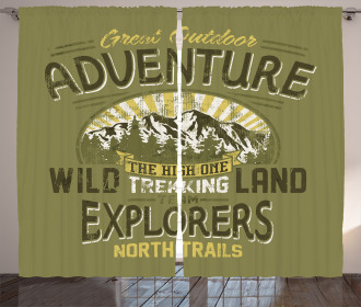 Outdoor Adventure Poster Curtain