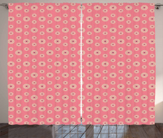 In Love Theme Flowers Curtain