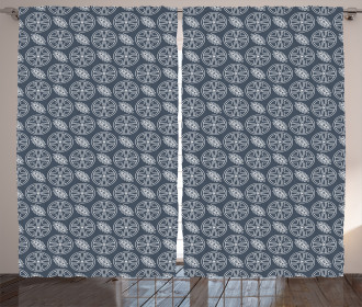 Japanese Ornate Abstract Curtain