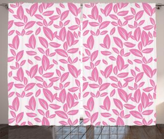 Big Pink Petals Artsy Curtain