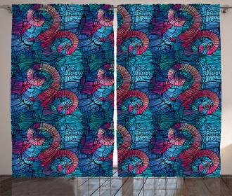 Mosaic Shell Swirls Curtain