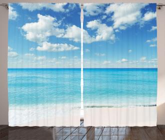 Exotic Beach Vivid Sky Curtain