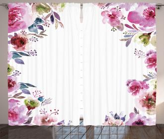 Romantic Blossom Flowers Curtain
