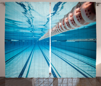 Swimming Pool Sports View Curtain