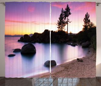 Landscape Lake Tahoe Curtain