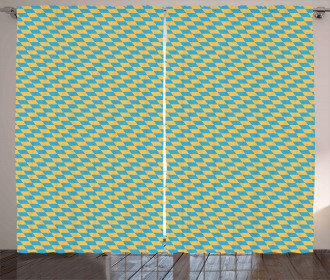 Diagonal Skewed Squares Curtain