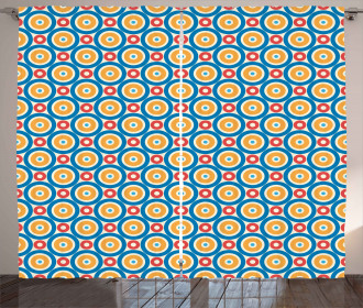 Big Small Circles and Dots Curtain