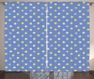 Small Spring Daisies Curtain