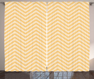 Vintage Zig Zag Stylish Curtain
