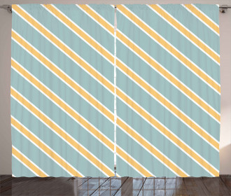 Bold Thin Stripes Curtain