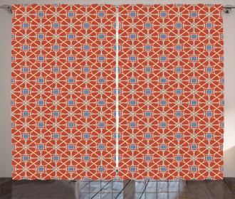 Curvy Lines Circles Tile Curtain