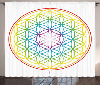 Radiant Flower of Life Curtain