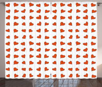 Hearts Cute Honeymoon Curtain