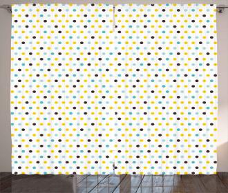 Polka Dots Rounds Retro Curtain