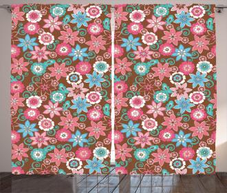 Flower Petals Florets Curtain