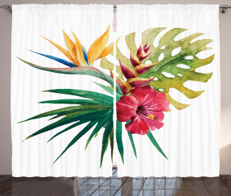 Wild Tropical Orchid Curtain