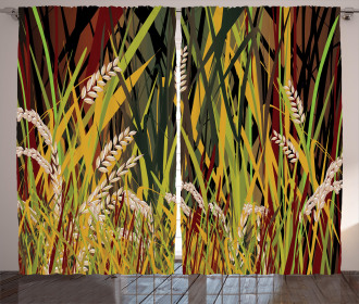 Plant Forest Farm Leaves Curtain