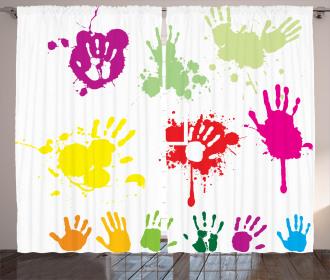 Teenagers Spray Color Curtain