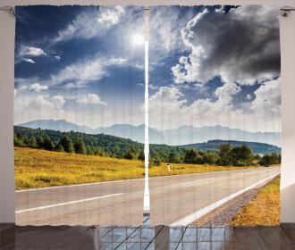 Road Hot Sunny Road Curtain