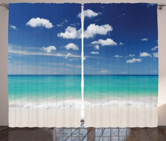 Summer Beach Coast Curtain