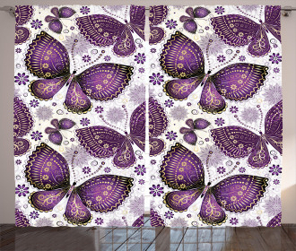 Asian Butterfly Curtain