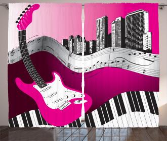 Urban Bass Guitar Rock Curtain