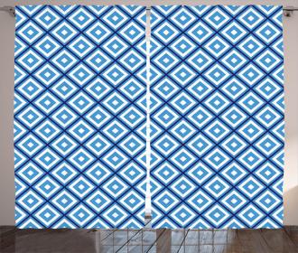 Geometric Diamond Form Curtain