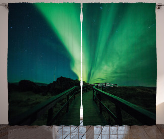 Wooden Bridge Solar Curtain