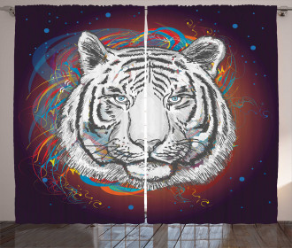 Tiger from Outer Space Curtain