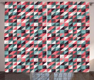 Geometric Mosaic Design Curtain