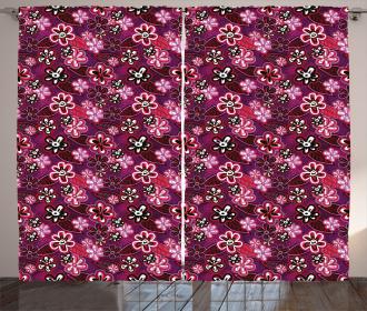 Modern Floral Leaf Nature Curtain
