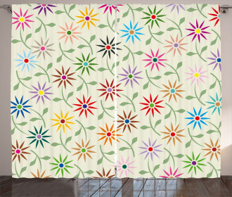 Colorful Graphic Garden Curtain