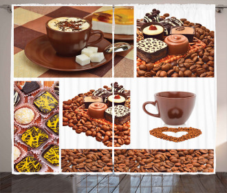 Sweets and Coffee Beans Curtain