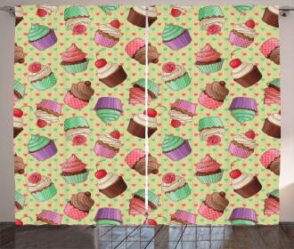 Bakery Polka Dots Curtain