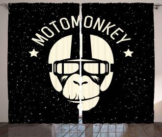 Alien Monkey Sign Curtain