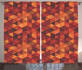 Retro Pattern Triangle Curtain